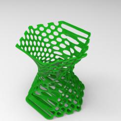 diseños 3d gratis Soporte de pluma Orgánico, Brahmabeej