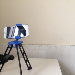 Free 3D print files Tripod for iphone and go pro, Brahmabeej