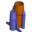 Diseños 3D gratis Stand de la pluma del transbordador, Brahmabeej