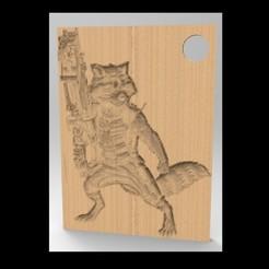 Imprimir en 3D gratis Llaveros del mapache, Brahmabeej
