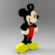 Mickey Mouse Keychain.1.png Download free STL file Key Chain • 3D printing template, Brahmabeej