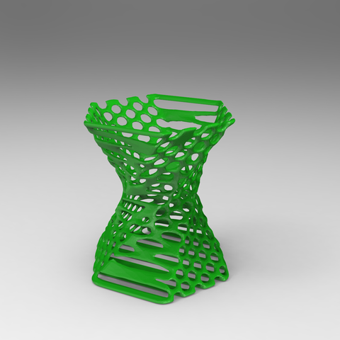 pen stand2.2.png Download free STL file Pen stand Organic  • 3D printing template, Brahmabeej