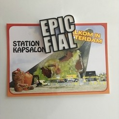 Free 3D printer file EPIC FAIL FIAL fridge magnet , baschz