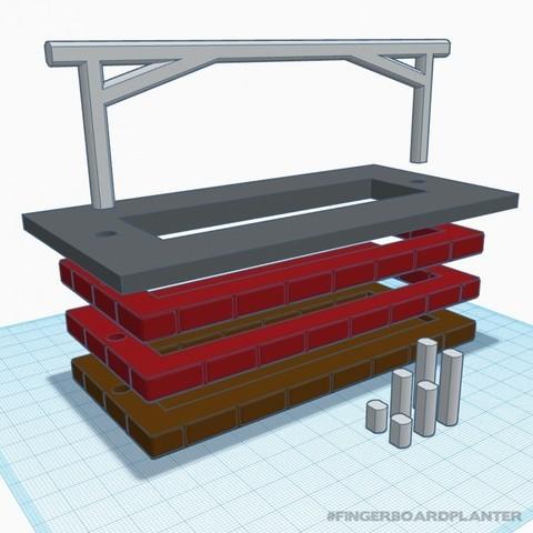 baschz-leeft-fingerboard-planter-5.jpg Download free STL file Modular Fingerboard Ramp & Planter • Object to 3D print, baschz