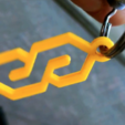 Download free 3D printer files SUPER S keychain, baschz