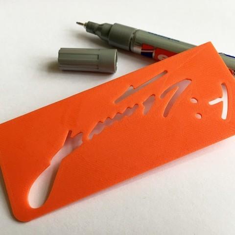 Download free 3D printing templates Prusa Personaliser | Josef Prusa Signature Jig, baschz