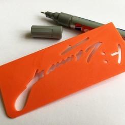 Free 3D printer files Prusa Personaliser | Josef Prusa Signature Jig, baschz