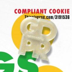 Free 3D print files GDPR Compliant Cookie (Cutter), baschz