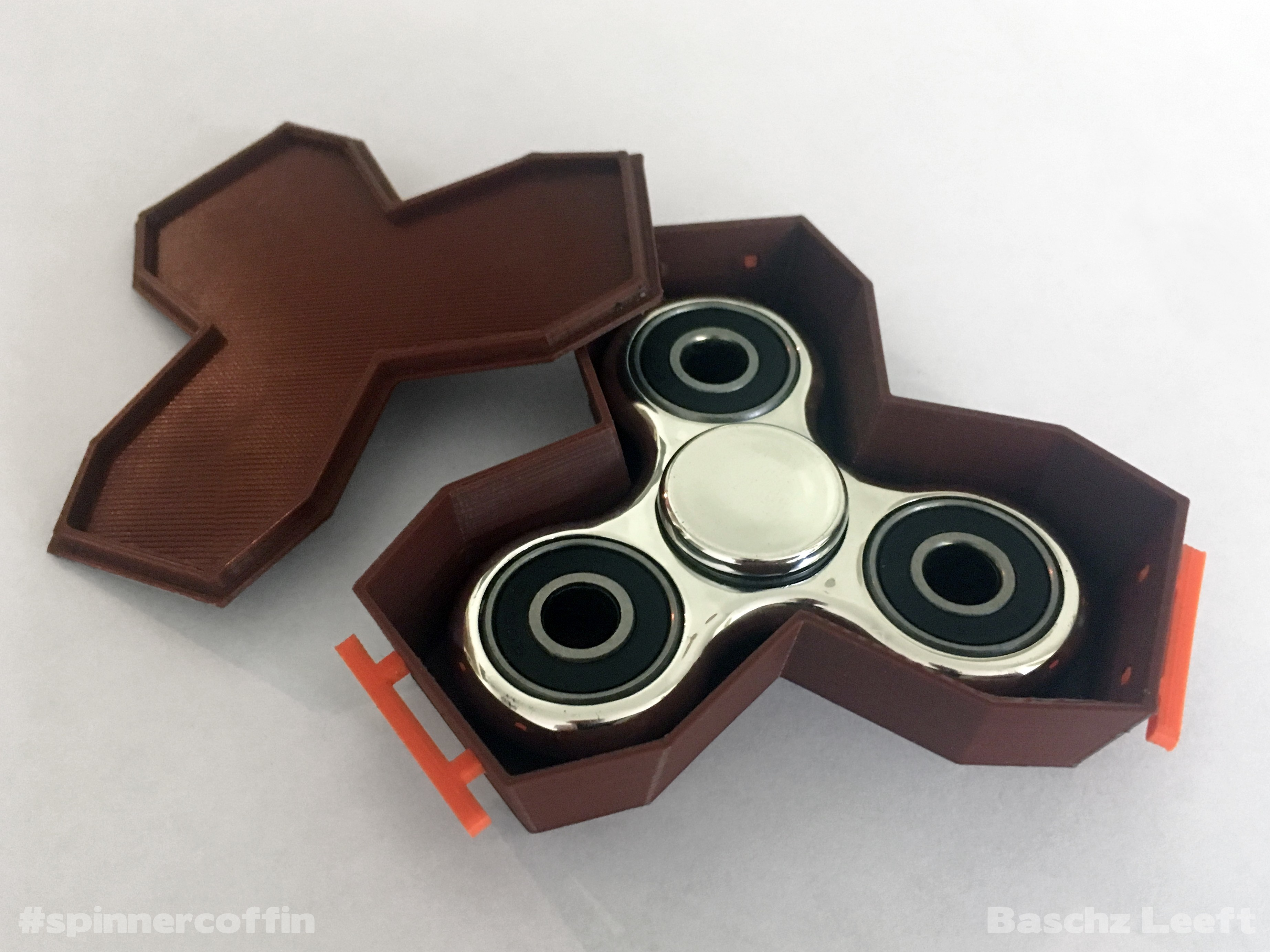 SPINNER-COFFIN_Baschz-Leeft-1.jpg Download free STL file SPINNER COFFIN - Accommodating the Death of Fidget Spinners • 3D print model, baschz