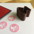 Free 3d printer files BRANDED | Rubber Stamp Logo, baschz
