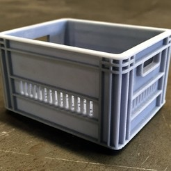 Download STL file CRATEFULL OF | Milk Crate 1/6 One Sixth Scale • 3D printer template, baschz