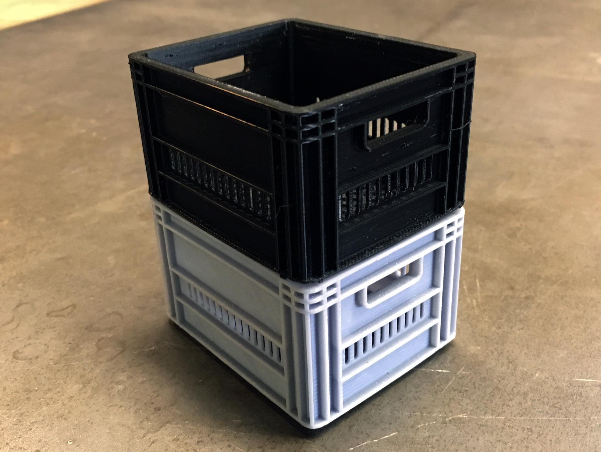 COB_Milk_Crate_03.jpg Télécharger fichier STL CRATEFULL OF | Caisse de lait 1/6 Un sixième de l'échelle • Design imprimable en 3D, baschz