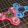Download free STL file TRIFORCE MINI - colourful nutty fidget spinner • 3D print design, baschz