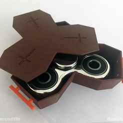 SPINNER-COFFIN_Baschz-Leeft-2.jpg Download free STL file SPINNER COFFIN - Accommodating the Death of Fidget Spinners • 3D print model, baschz