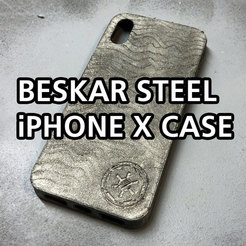 Download free STL files The Mandalorian | Beskar Steel iPhone X Case, baschz