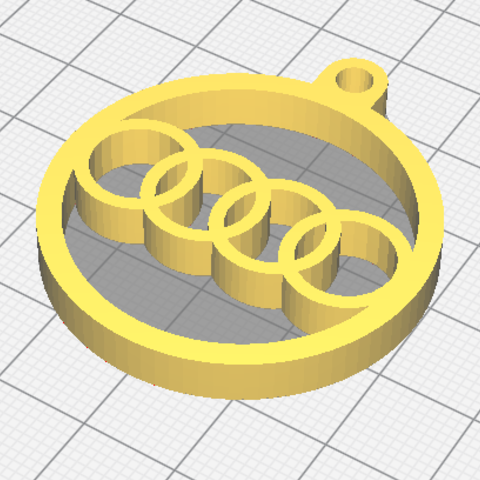 Free 3d printer designs Audi key chain, 3D-Drucker