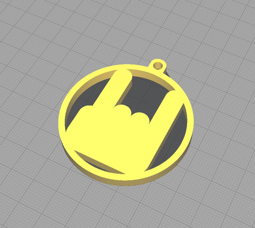 Rock Key Chain.PNG Télécharger fichier STL gratuit Porte-clés rock • Design pour impression 3D, 3D-Drucker