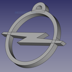 Download free 3D printer templates Opel car key, 3D-Drucker