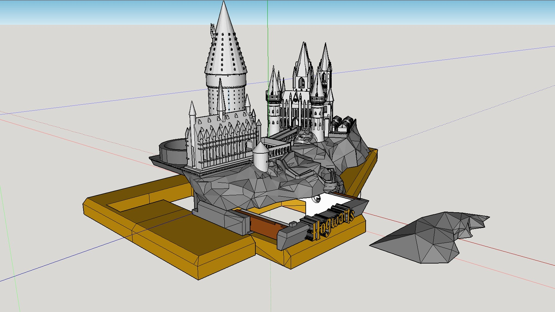 Removable rock cover.jpg Download free STL file Hogwarts School of Witchcraft • 3D printer template, Valient