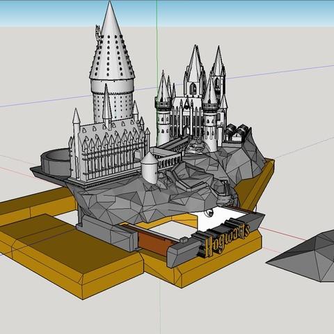 Removable rock cover.jpg Télécharger fichier STL gratuit Hogwarts School of Witchcraft • Plan à imprimer en 3D, Valient