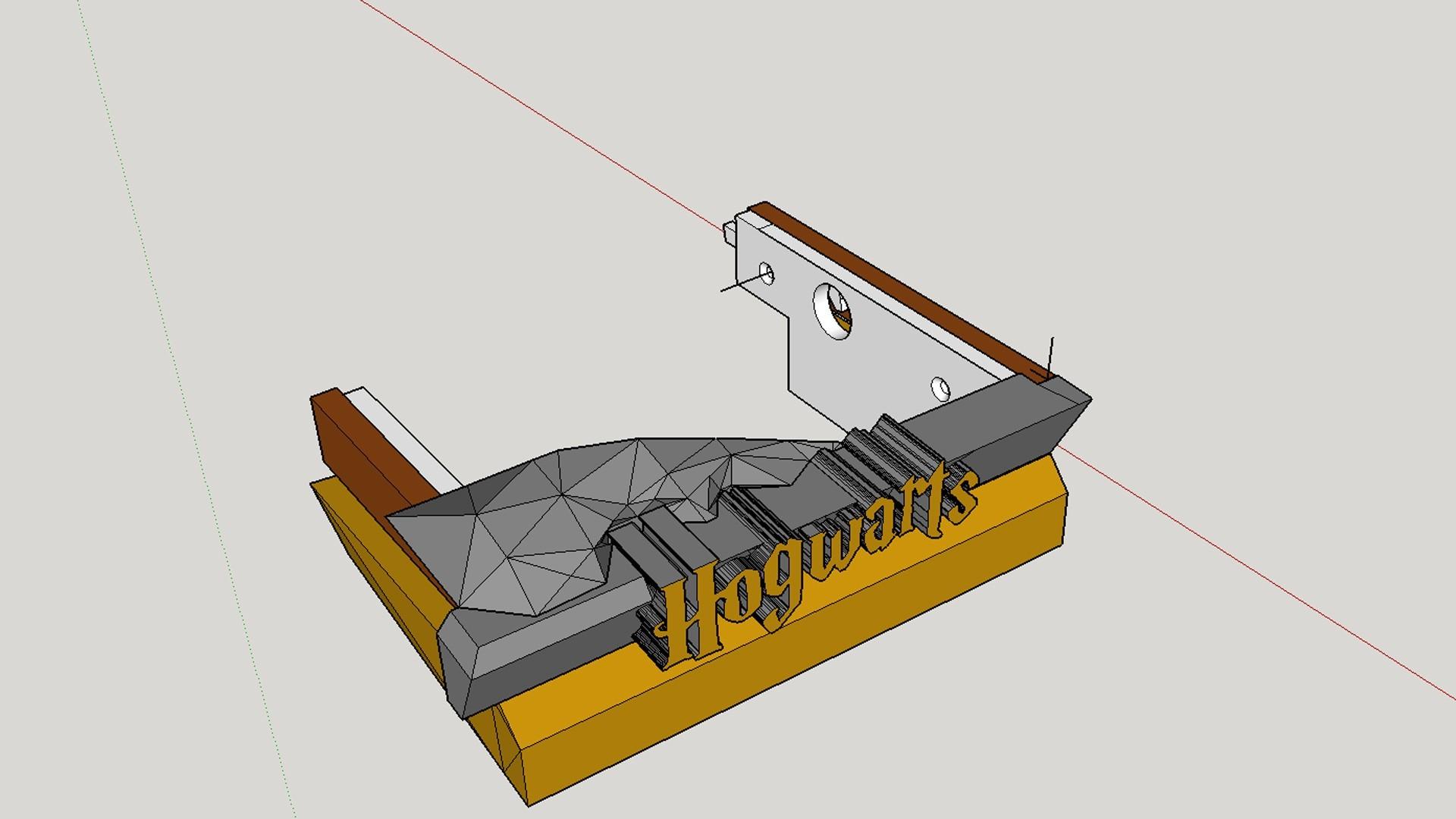 Hidden Drawer Closeup.jpg Télécharger fichier STL gratuit Hogwarts School of Witchcraft • Plan à imprimer en 3D, Valient