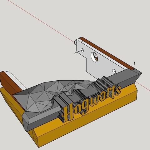 Hidden Drawer Closeup.jpg Download free STL file Hogwarts School of Witchcraft • 3D printer template, Valient