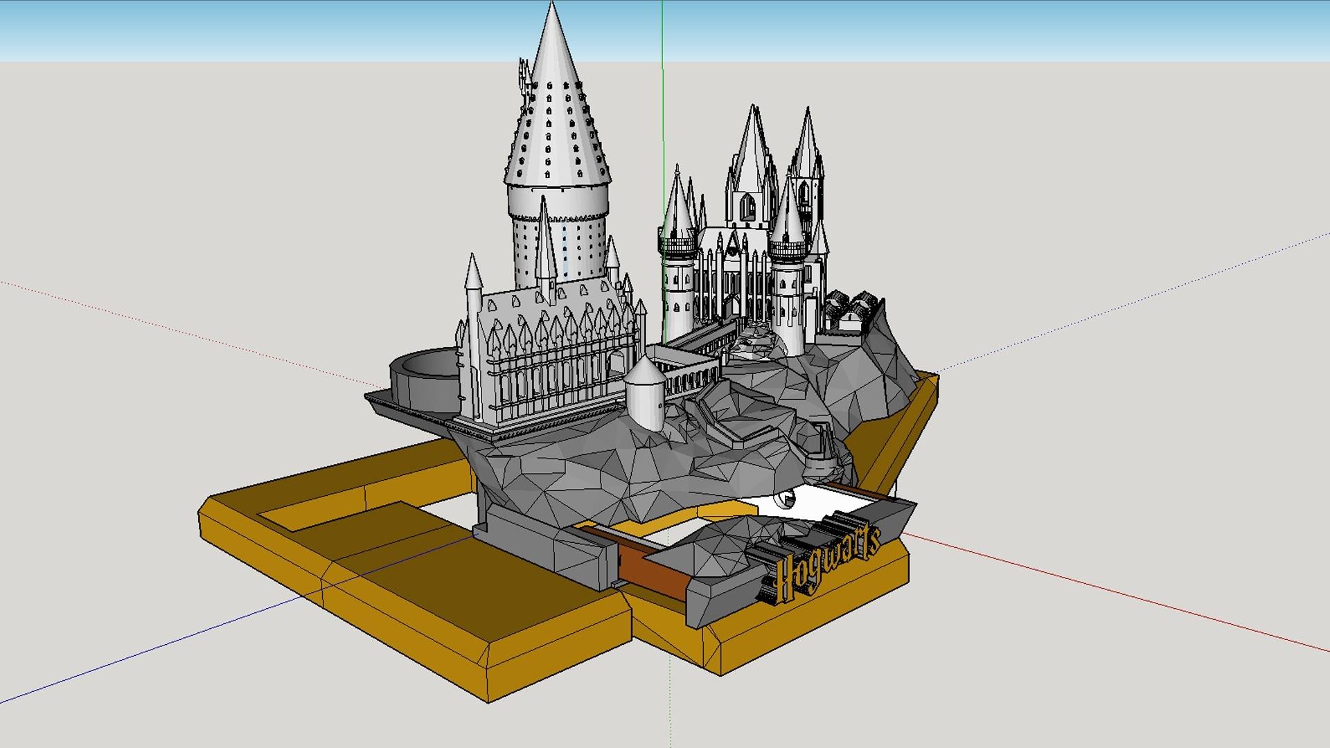 Hidden Drawer.jpg Download free STL file Hogwarts School of Witchcraft • 3D printer template, Valient