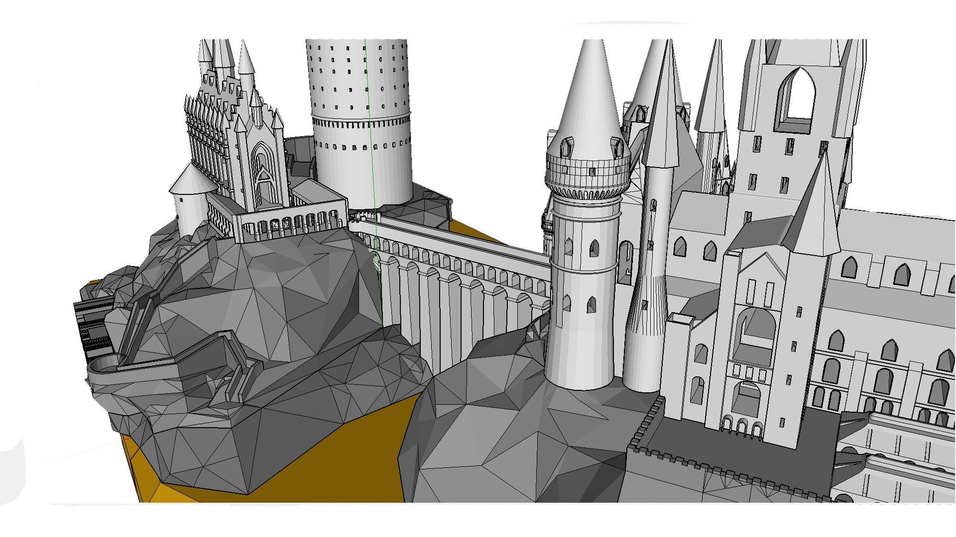 Walkaround 1.jpg Download free STL file Hogwarts School of Witchcraft • 3D printer template, Valient