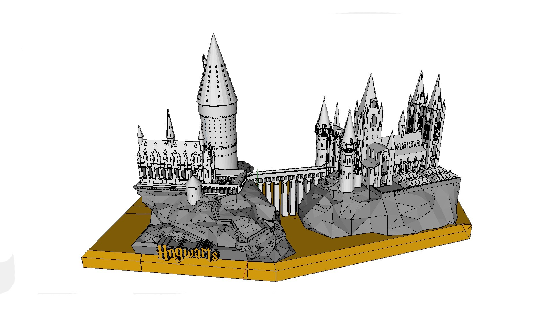Structures finished.jpg Télécharger fichier STL gratuit Hogwarts School of Witchcraft • Plan à imprimer en 3D, Valient