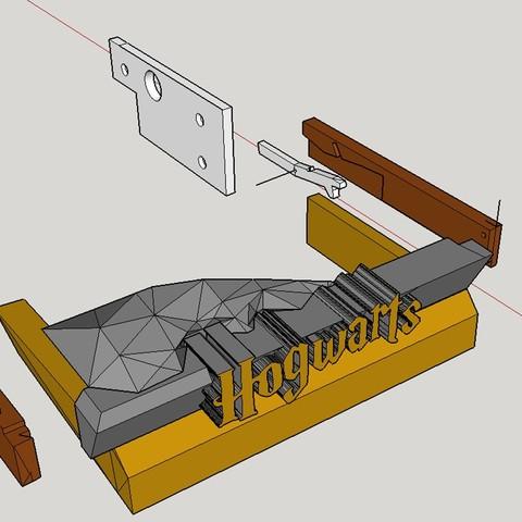 Hidden Drawer Exploded view.jpg Télécharger fichier STL gratuit Hogwarts School of Witchcraft • Plan à imprimer en 3D, Valient