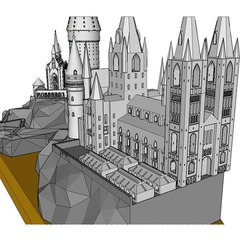 Walkaround 2.jpg Télécharger fichier STL gratuit Hogwarts School of Witchcraft • Plan à imprimer en 3D, Valient
