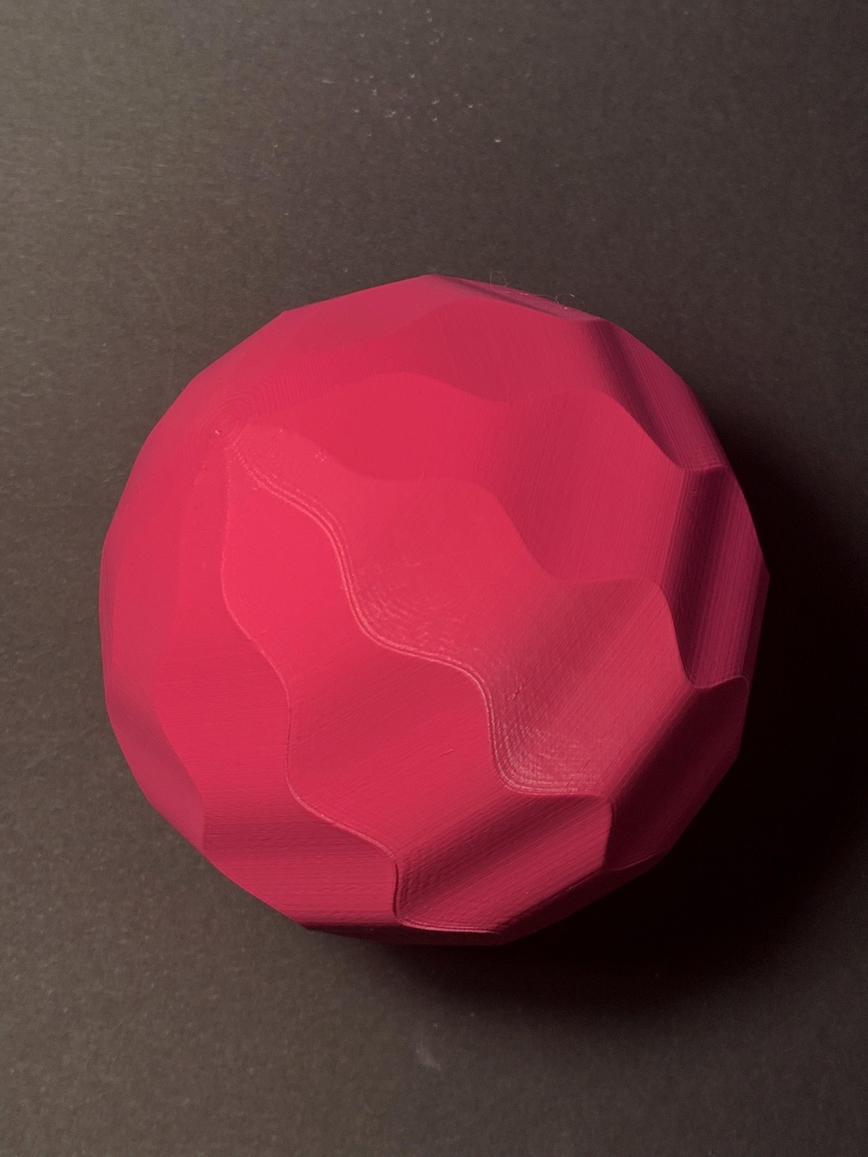 IMG_4393.jpg Download STL file wave sphere • Template to 3D print, Ciokobango