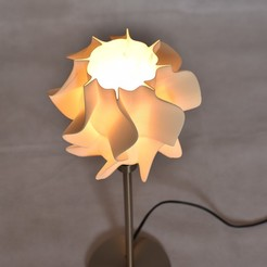 3D printer models lamp shade - wave, Ciokobango