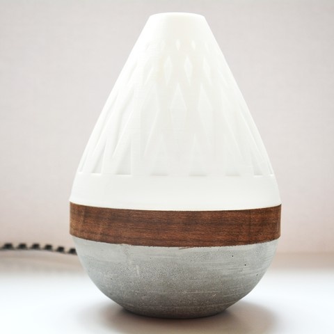 AdylinnTeardropLamp-2.jpg Download free STL file  Teardrop Lamp (3D Printed Components, Concrete + Wood Veneer Build) • Object to 3D print, Adylinn
