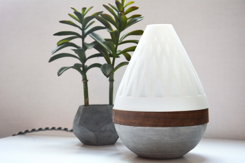 AdylinnTeardropLamp-3.jpg Download free STL file  Teardrop Lamp (3D Printed Components, Concrete + Wood Veneer Build) • Object to 3D print, Adylinn