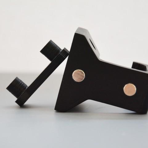 DSC_5498.jpg Download STL file Under-desk Headphone Hanger • 3D printing design, Adylinn