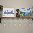 Download free STL file DIY Wine Glass Shelf - 3D Printed Brackets • 3D printer design, Adylinn