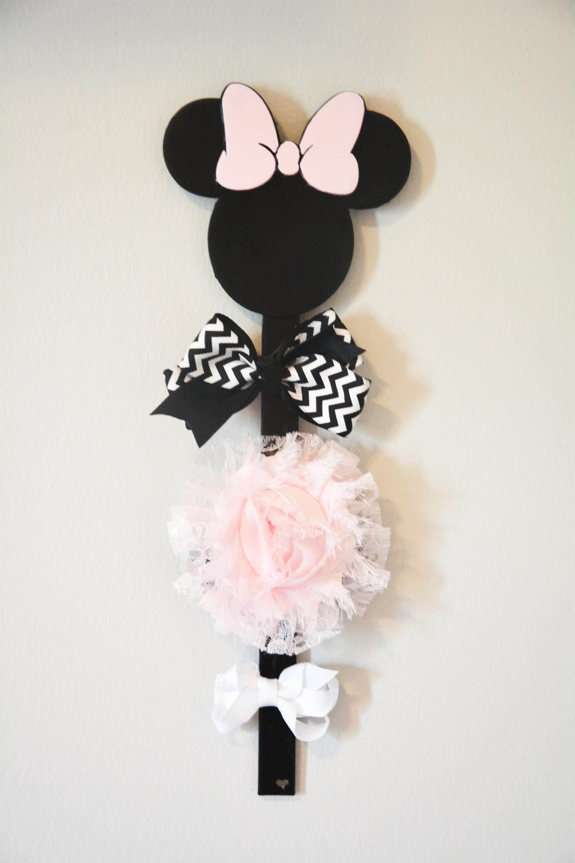BowHolder-1.jpg Download free STL file Minnie Mouse Bow Holder • 3D printing design, Adylinn