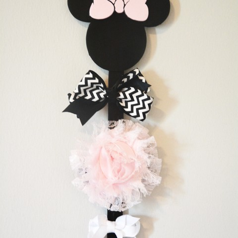 Download free 3D printing designs Minnie Mouse Bow Holder, Adylinn