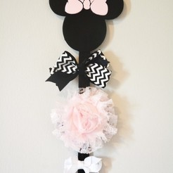 3d printer designs Minnie Mouse Bow Holder, Adylinn
