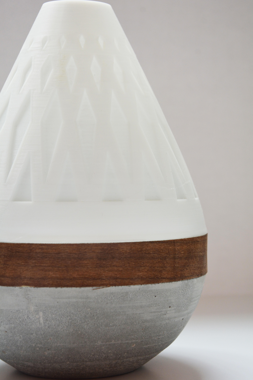 AdylinnTeardropLamp-4.jpg Download free STL file  Teardrop Lamp (3D Printed Components, Concrete + Wood Veneer Build) • Object to 3D print, Adylinn