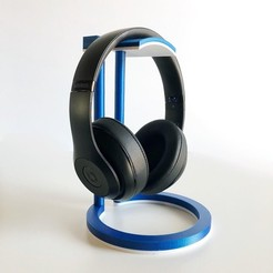 media-1516476375698.jpg Download STL file Dual Color Infinity Headphone Stand • 3D print design, Adylinn