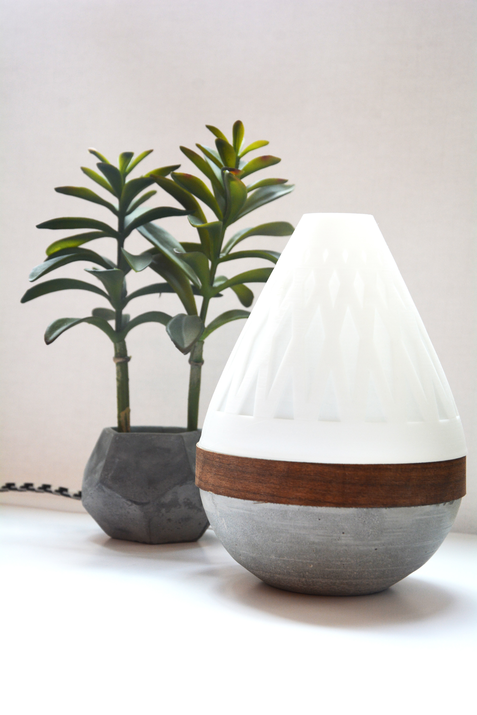 AdylinnTeardropLamp-5.jpg Download free STL file  Teardrop Lamp (3D Printed Components, Concrete + Wood Veneer Build) • Object to 3D print, Adylinn