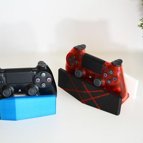 Imprimir en 3D Soporte del controlador de escritorio (PS4 Dualshock), Adylinn