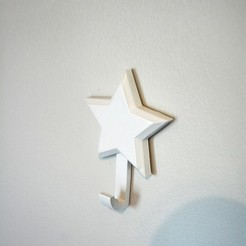 MoonAndStarsHooks-3.jpg Download STL file Moon and Star Wall Hooks • 3D print template, Adylinn