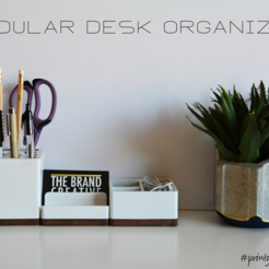 Download STL file Modular Desk Organizer • Model to 3D print, Adylinn