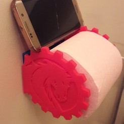 Free 3D printer designs toilet paper holder, charlybegood