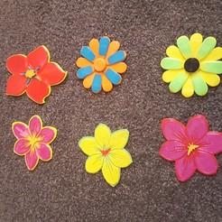 Descargar Modelos 3D para imprimir gratis Azafrán, No-me-olvides, flores, frankv