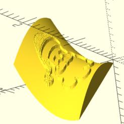 saddle.PNG Download free SCAD file Wrap image on curved surface for OpenSCAD • Model to 3D print, frankv