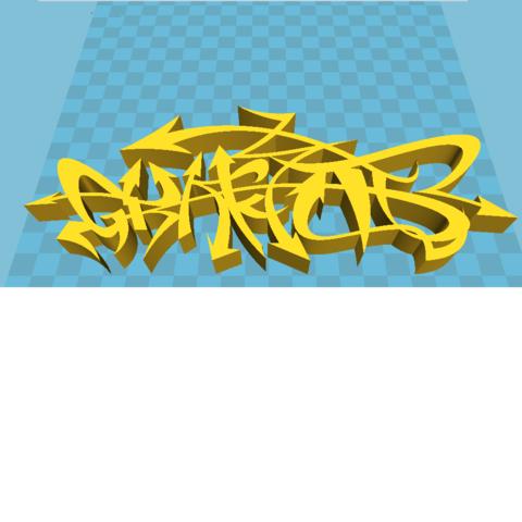 Stl File Graffiti 3d Model Print Cults